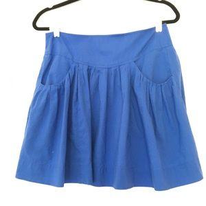 Edmund & Esyllte for Anthropologie blue skirt